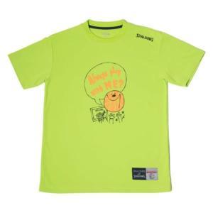 SMT180200-4200 Tシャツ-MESSAGE PLAY ライムグリーン/4200 SPALDING メンズ Tシャツ シャツ (SP)(QBJ37) fieldboss