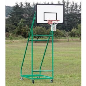 S-0318 バスケットゴール ジュニア用 移動式 150mmキャスターストッパー付 送料【お見積】 SANWATAIKU バスケットボール ゴール (SWT)(QBJ37) fieldboss