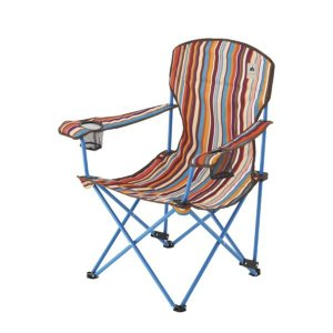 #73173025 リクライナーチェア(オレンジストライプ) LOGOS 椅子 いす (HN)(QBJ37)|fieldboss