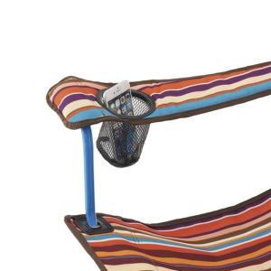 #73173025 リクライナーチェア(オレンジストライプ) LOGOS 椅子 いす (HN)(QBJ37)|fieldboss|05