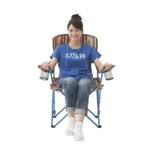 #73173025 リクライナーチェア(オレンジストライプ) LOGOS 椅子 いす (HN)(QBJ37)|fieldboss|06