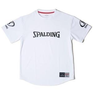 バスケットボール Tシャツ バスケ Tシャツ 半袖 SMT18113X-2000-3XL Tシャツ SPALDING ホワイト/2000 3XL (SP)(QBJ37)|fieldboss