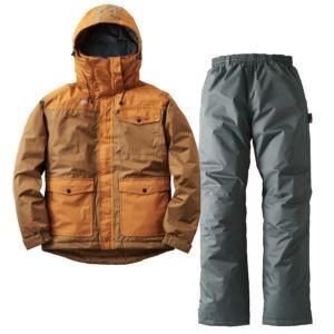 カッパ 上下 カッパ レインウェア 上下 汚れに強い防水防寒スーツ カーター BR (HN)(QBJ37) fieldboss