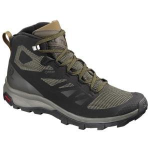トレッキングシューズ メンズ ブーツ メンズ 登山靴 メンズ OUTline MID GORE-TEX BLACK/BELUGA/CAPERS (SAM)(QBJ37)|fieldboss