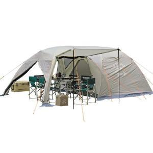 キャンプ テント 大型 テント 折りたたみ ファミリー ツールーム ドームテント キャプテンスタッグ モンテ スクリーン  5〜6人用 ( UA-0044 )(QCB02)|fieldboss