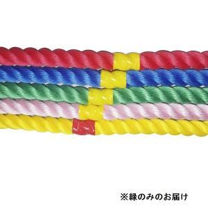 綱引き ロープ つなひき S-8644 カラフルロープ3m 緑 (SWT)(QBJ37)
