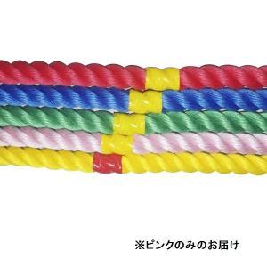 綱引き ロープ つなひき S-8645 カラフルロープ3m ピンク (SWT)(QBJ37)