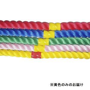 綱引き ロープ つなひき S-8646 カラフルロープ3m 黄 (SWT)(QBJ37)