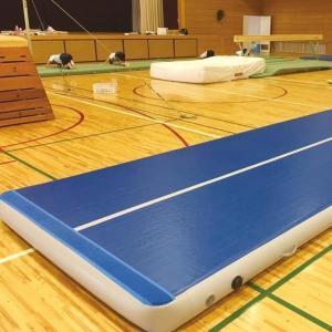 運動マット エアーマット 体操マット S-9572 エアマット 高反発仕様 t20cm 90cm×120cm送料【お見積】 (SWT)(QBJ37)|fieldboss