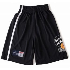 バスケ パンツ ジュニア バスパン バスケットボールパンツ プラクティスパンツ サイドライン ブラック 1000 (SP)(QBJ37)|fieldboss