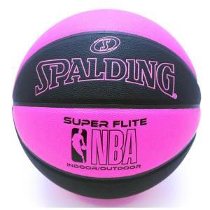 バスケットボール バスケットボール 6号 バスケットボール 6号球 76-511J NBA スーパーフライト ブラックxピンク SIZE 6 (SP)(QBJ37)|fieldboss