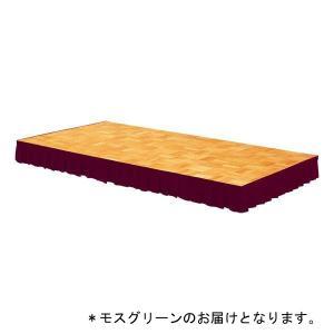 ステージスカート ステージカーテンステージスカート 400用(モスグリーン/マジックテープ式)D-1906MG 特殊送料:ランク(G-1)(DAN)(QBJ37)