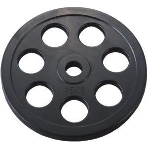 穴付ラバーバーベルプレート28 15kg (DAN235956/D5014)(QBG41)
