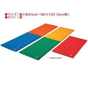 エコカラーマットジョイント式すべり止付(枚)(緑) (JS83955/EKM060)(分類:体操マット 体育マット マット トレーニングマット)(QBJ37)
