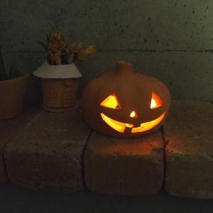 ハロウィン雑貨 テラコッタ製ジャックオーランタン2L / かぼちゃ おばけ 飾り ランプシェード 置物|fieldfine1998