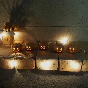 ハロウィン雑貨 テラコッタ製ジャックオーランタンS 5個セット / かぼちゃ おばけ 飾り ランプシェード 置物|fieldfine1998
