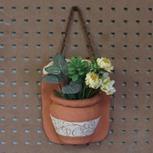 ハンギングポット(いちご)/テラコッタ製 植木鉢 ガーデニング お花 植物 壁掛け インテリア ドライフラワー 飾り|fieldfine1998