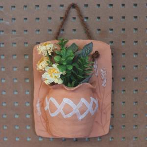 ハンギングポット(ラベンダー)/テラコッタ製 植木鉢 ガーデニング お花 植物 壁掛け インテリア ドライフラワー 飾り|fieldfine1998