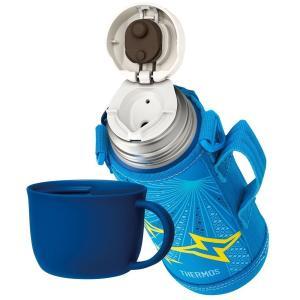 サーモス 水筒 真空断熱2ウェイボトル/FHO-800WF チェックブルー(CHBL)ブルーイエロー...