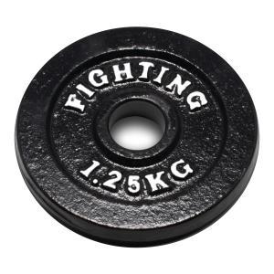 プレート(ブラックタイプ)1.25kg 【単品プレート】 / バーベル、ダンベル兼用*