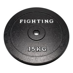 プレート(ラバータイプ)15kg 【単品プレート】 / バーベル、ダンベル兼用_バーゲン特価