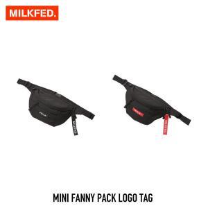 【クーポンで10%OFF!】ミルクフェド MILKFED. バッグ MINI FANNY PACK LOGO TAG ミニ ファニー パック ロゴ タグ 03182086|figure-corners