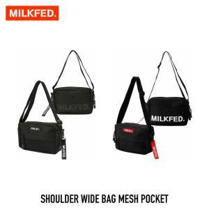 【クーポンで10%OFF!】ミルクフェド MILKFED. ショルダー ワイド バッグ メッシュ ポケット SHOULDER WIDE BAG MESH POCKET  03182087 レディース|figure-corners