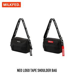 【クーポンで10%OFF!】ミルクフェド MILKFED. バッグ ネオ ロゴ テープ ショルダーNEO LOGO TAPE SHOULDER BAG 03182098 レディース|figure-corners