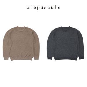 クレプスキュール crepscule ウール ワッフル クルーネック プルオーバー wool waffle crewneck P/O メンズ ニット セーター|figure-corners