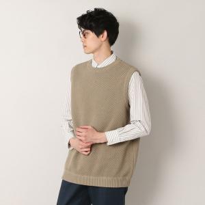 クレプスキュール crepuscule ニット ベスト moss stitch vest 1901-007 メンズ トップス|figure-corners