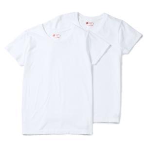 ヘインズ HANES Tシャツ 2P ジャパンフィット JapanFit forHER クルーネック crewneck T HW5310 レディース カットソー|figure-corners