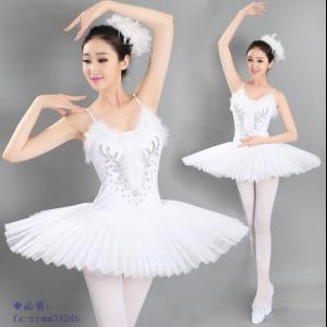 バレエ リトルスワン レオタード 女性 ダンス ステージ衣装 レディースのダンス衣装 舞台衣装 バレ...