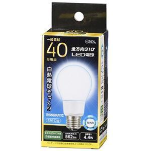 オーム電機 LED電球(40形相当/562lm/昼光色/E26/全方向配光310°/密閉形器具対応) LDA4D-G AG92|fiinet