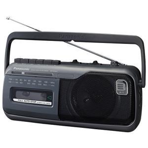 パナソニック ラジオカセット グレー RX-M40A-H|fiinet