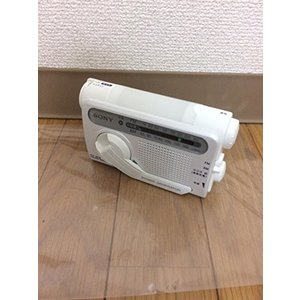 SONY 防災用 手回し充電 FM/AMポータブルラジオ ホワイト ICF-B02(W)|fiinet