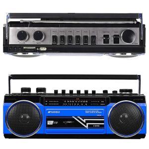 SANSUI サンスイ SCR-B2 ブルー BL カセットテープレコーダー レトロ ラジカセ(R)の画像