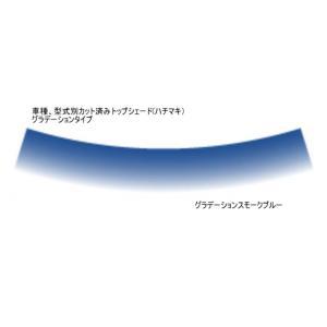 プリウスαアルファZVW40WZVW41W H23.5〜フロントトップシェード グラデーションタイプ カット済みカーフィルム