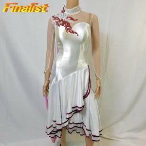 社交ダンス スタンダードドレス 新品 アトリエヒロコ製 白|finarit