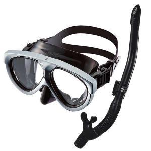 2020 メタリックシルバー GULL ガル 軽器材2点セット  ダイビング マンティス5 マスク ...