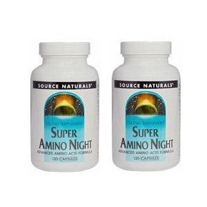 送料無料 [2個セット] Source Naturals ソースナチュラルズ スーパーアミノナイト 120 粒 Super Amino Night 120 cap.