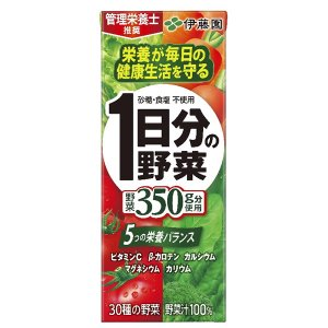 【商品詳細】 商品名:1日分の野菜 紙パック 200ml 原材料: 野菜汁(にんじん、トマト、有色甘...