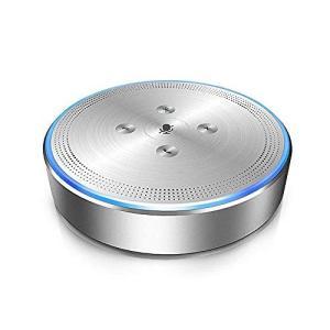 スピーカーフォン eMeet web会議マイクスピーカー ワイヤレススピーカーフォン 全指向性360...