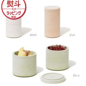 soil (ソイル) フードコンテナ ダブル 珪藻土 日本製 吸湿 調湿 食品 保存容器 二段
