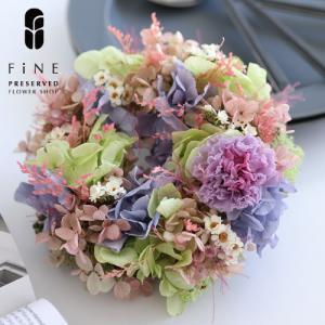 プリザーブドフラワー プレゼント ミニリース パフィー  リース インテリア ギフト プレゼント 誕生日 お祝い 結婚祝い 新築祝い 開店祝い 開業祝い 送料無料|fine-flower