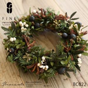 ドライフラワー リース プリザーブドフラワー ブロカント アンティーク BC022リース(ピスタチアリーフリース)|fine-flower
