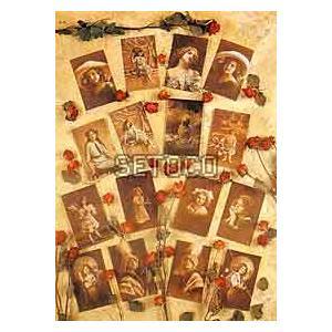ラッピングペーパー Postcard Pale Background605-0002 fine-home