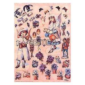 ラッピングペーパー Child Angels, Flowers & Butterflies605-0015 fine-home
