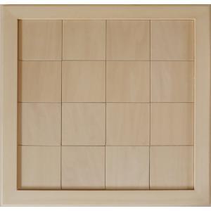 無塗装白木素材 cw-1304 タイル風額10角×16枚 fine-home