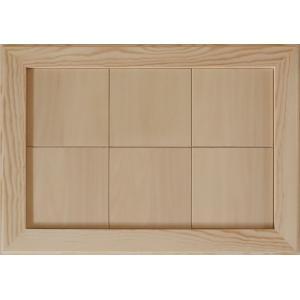無塗装白木素材 cw-1307 タイル風額12角×6枚 fine-home