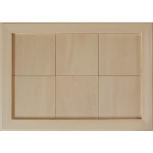 無塗装白木素材 cw-1311 タイル風額14角×6枚 fine-home